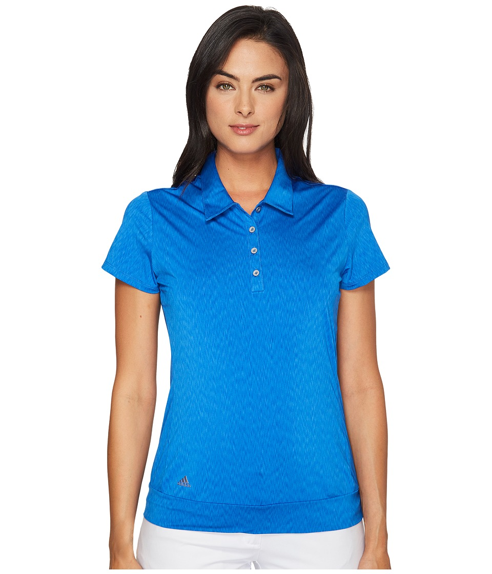 adidas Golf - Chevron Short Sleeve Polo (Blue) Women's Short Sleeve Pullover