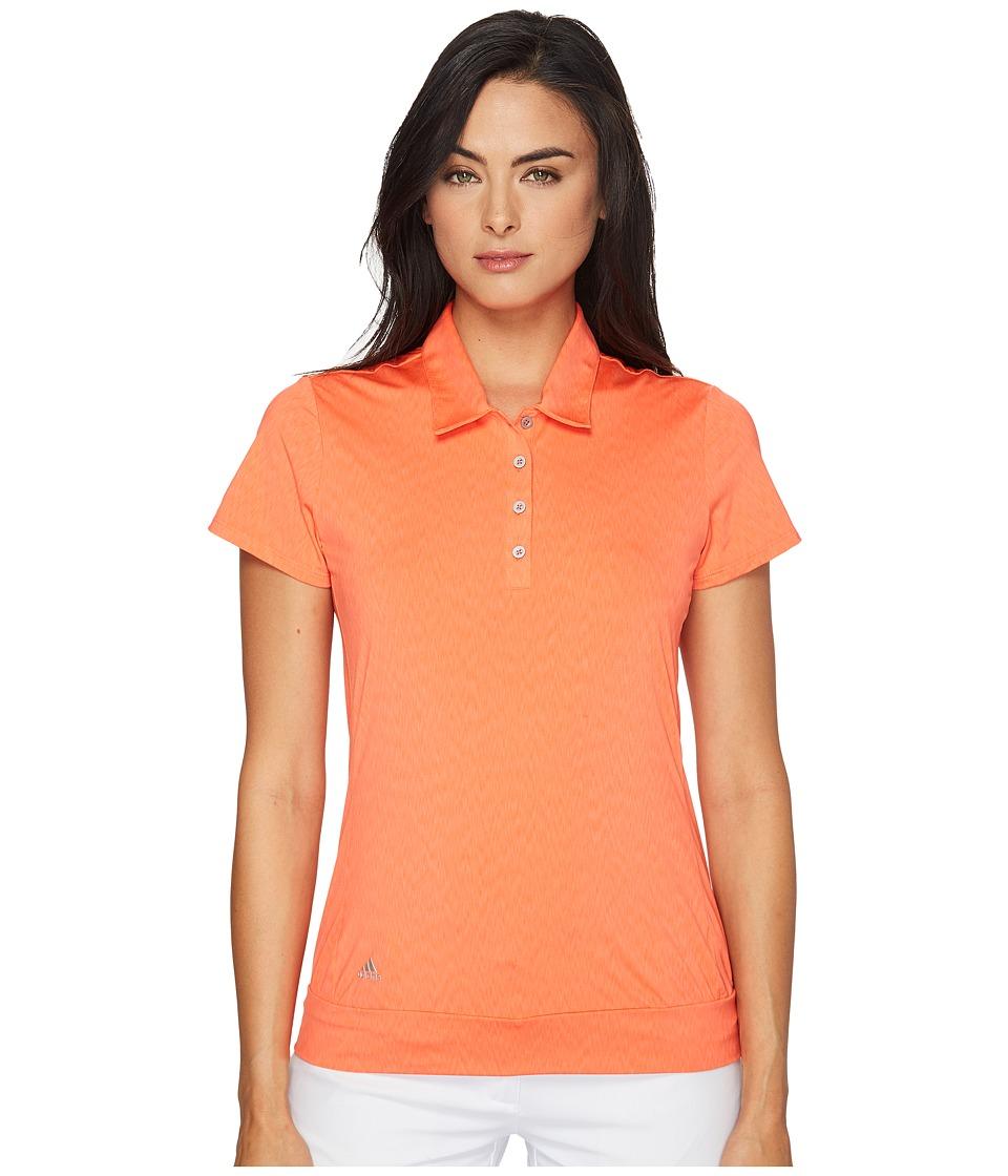 adidas Golf - Chevron Short Sleeve Polo (Easy Coral) Women's Short Sleeve Pullover