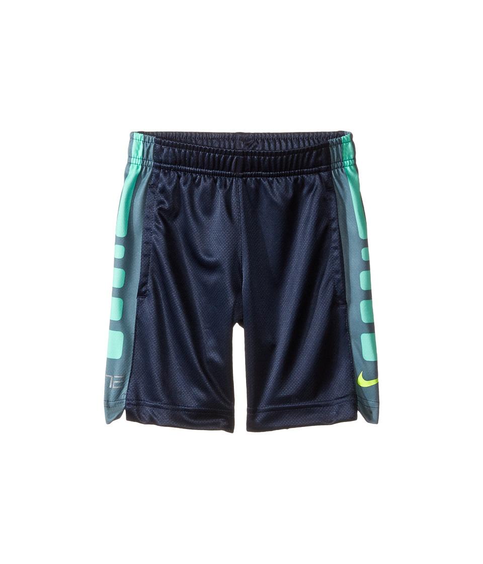 Nike Kids - Dri-FIT Elite Stripe Short (Toddler) (Obsidian/Volt) Boy's Shorts