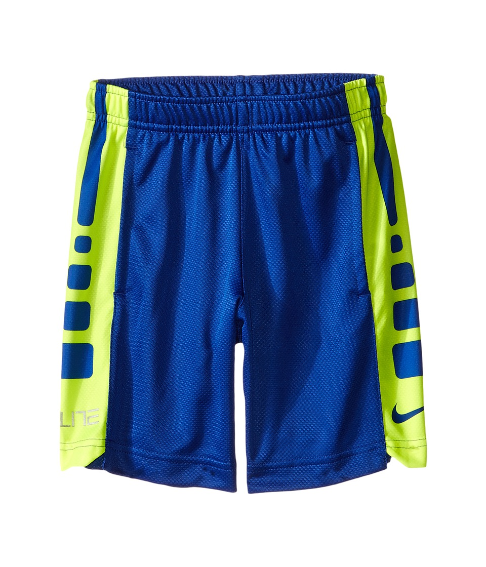 Nike Kids - Elite Stripe Shorts (Toddler/Little Kids) (Volt/Game Royal) Boy's Shorts