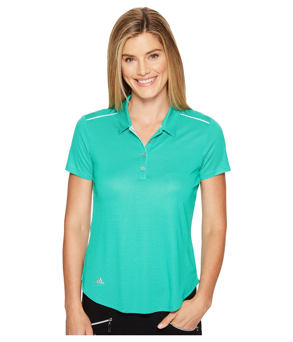 adidas Golf - Microdot Short Sleeve Polo (Core Green/Easy Coral) Women's Short Sleeve Pullover
