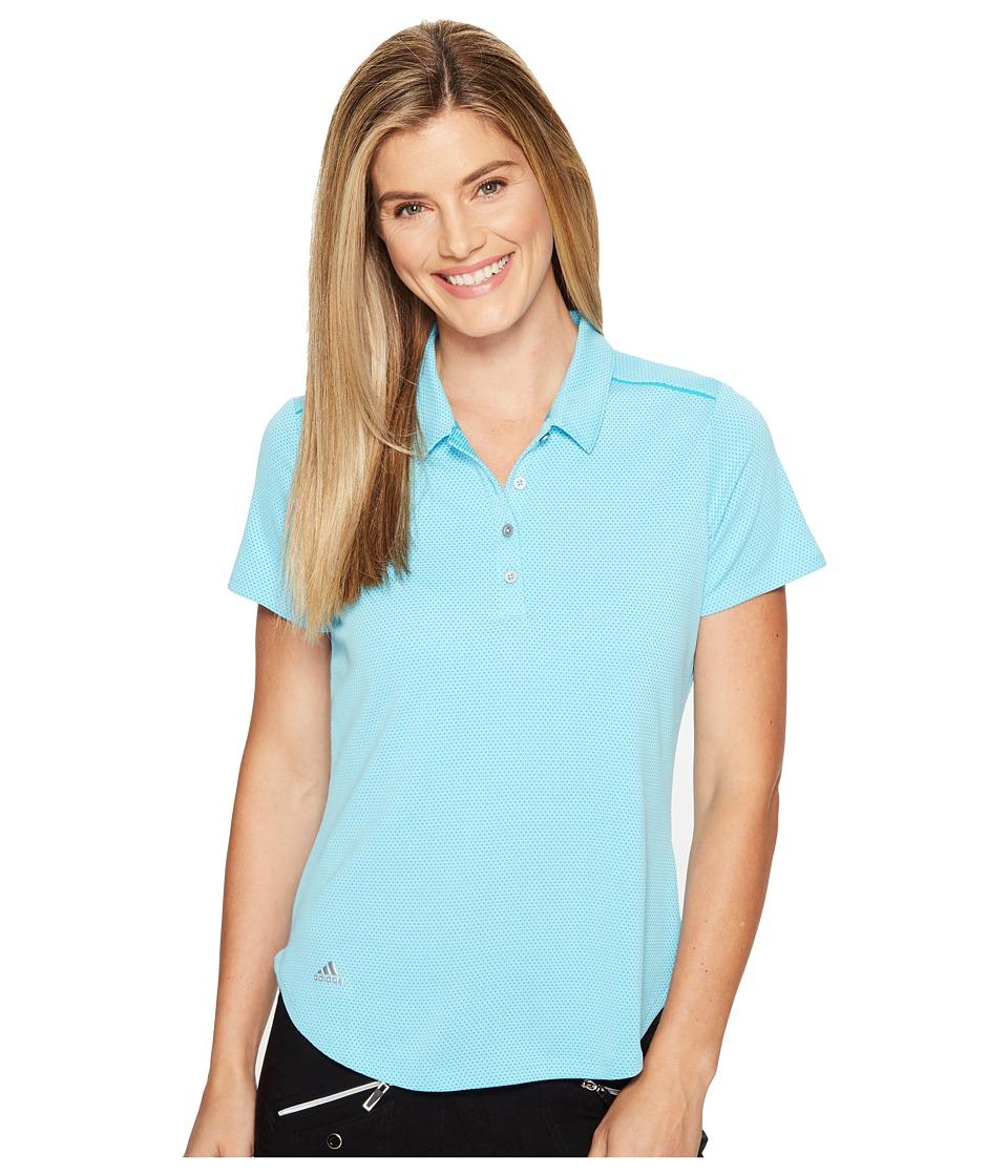 adidas Golf - Microdot Short Sleeve Polo (Blue Glow/Energy Blue) Women's Short Sleeve Pullover