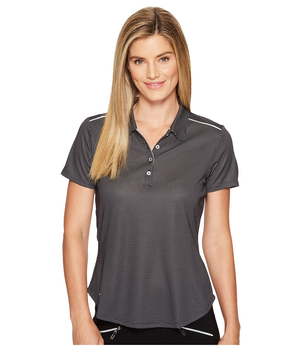 adidas Golf - Microdot Short Sleeve Polo (Black/White) Women's Short Sleeve Pullover