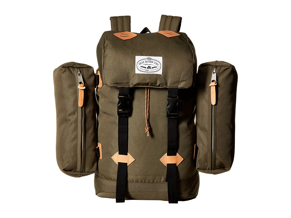 Poler - Classic Rucksack Backpack (Burnt Olive) Backpack Bags
