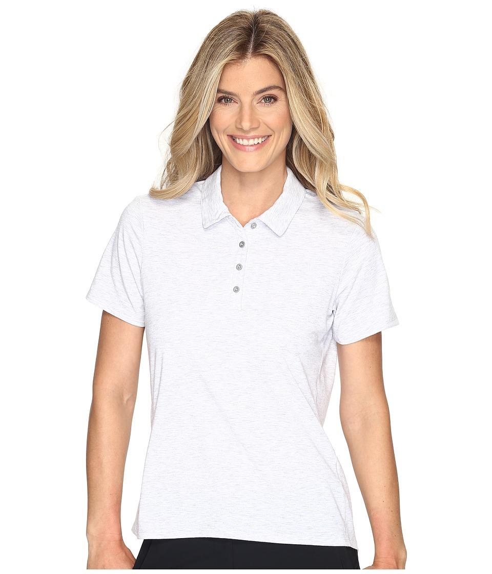 adidas Golf - Essentials Short Sleeve Polo (Light Grey Heather) Women's Short Sleeve Pullover
