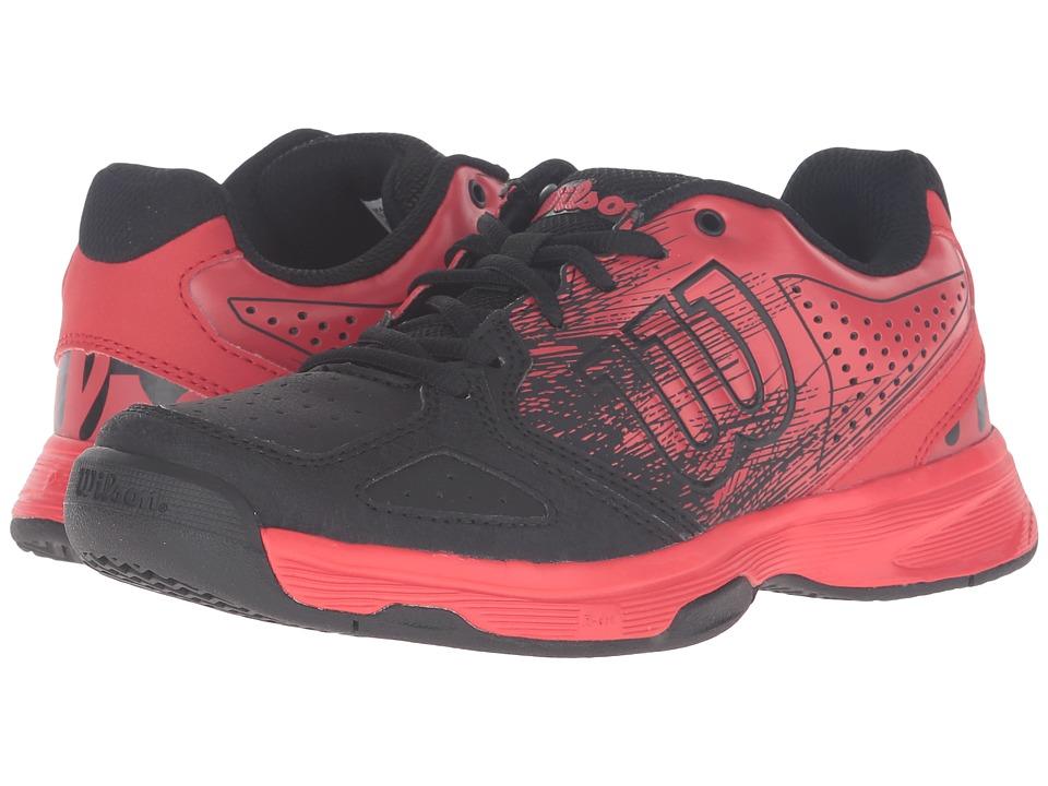 Wilson Kids - Jr Kaos Comp (Little Kid/Big Kid) (Radiant Red/Black/Radiant Red) Kids Shoes