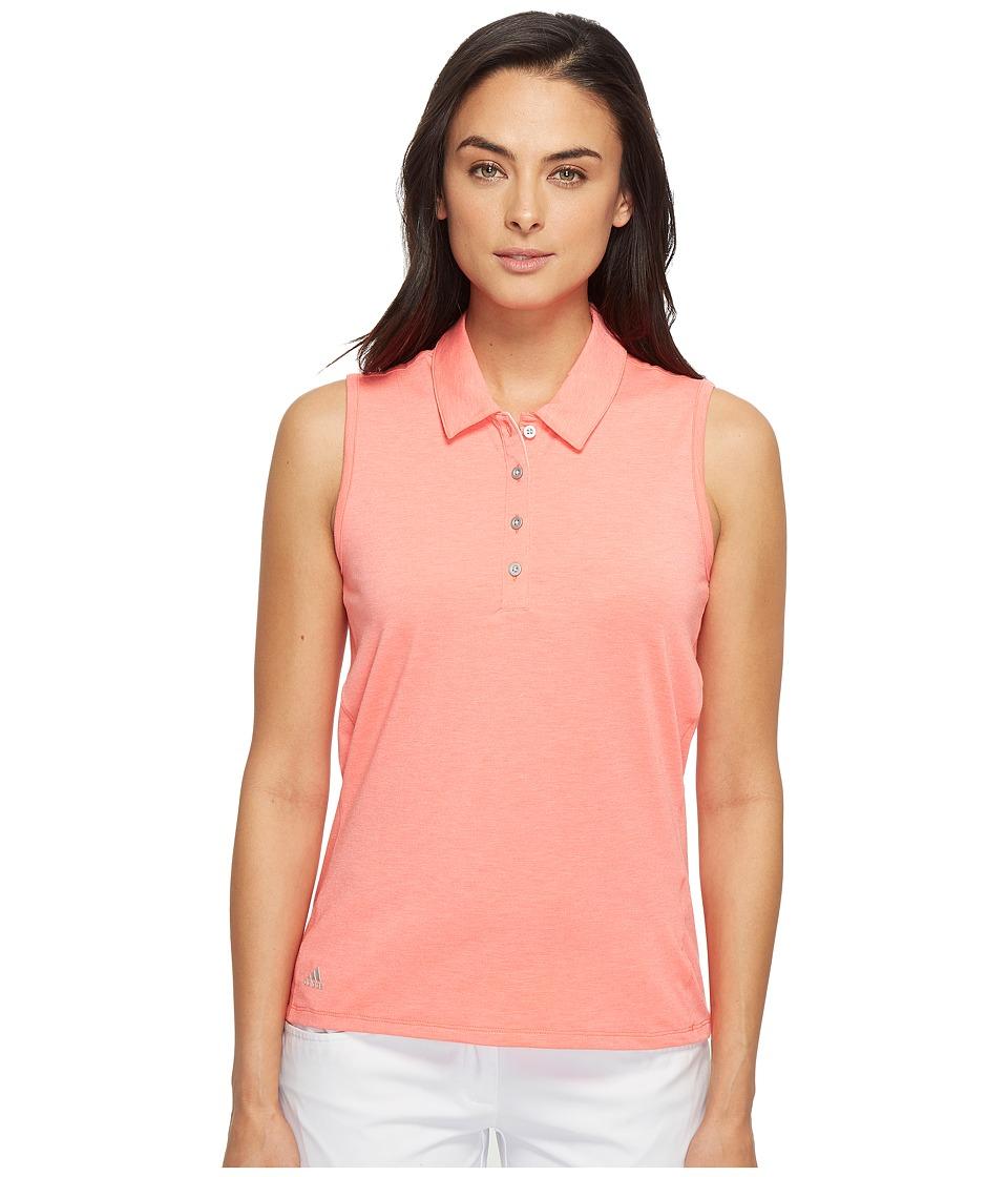 adidas Golf - Essentials Sleeveless Polo (Easy Coral Heather) Women's Sleeveless