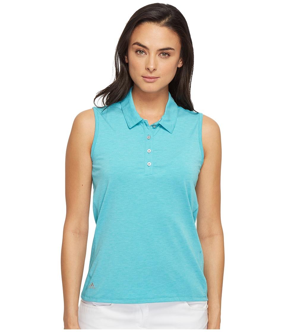 adidas Golf - Essentials Sleeveless Polo (Energy Blue Heather) Women's Sleeveless