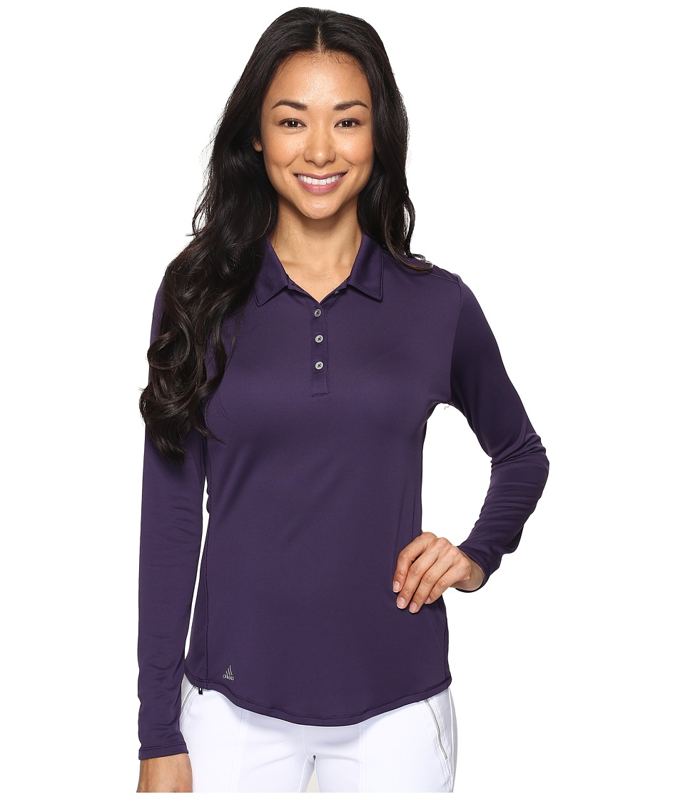 adidas Golf - Performance Long Sleeve Polo (Purple) Women's Long Sleeve Pullover