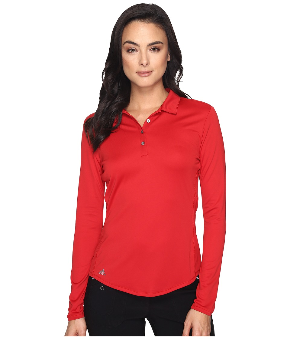 adidas Golf - Performance Long Sleeve Polo (Power Red) Women's Long Sleeve Pullover