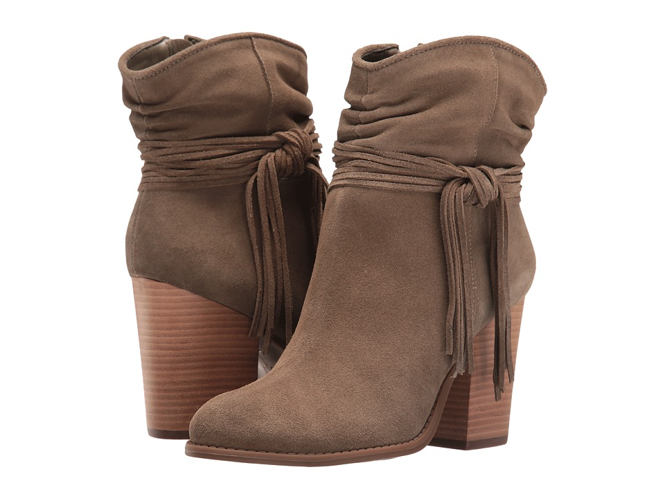 Jessica Simpson Sesley Olive Taupe Split Suede Womens Shoes