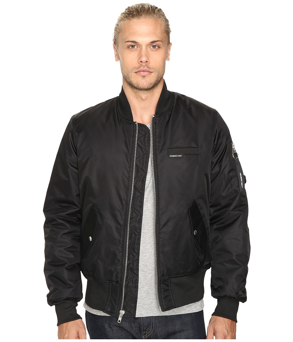 Members Only - Authentic Military Bomber Jacket (Black) Men's Coat