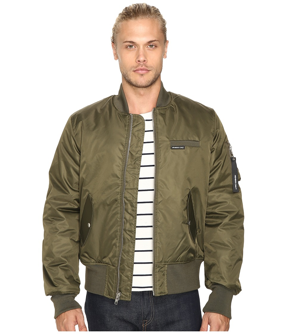Members Only - Authentic Military Bomber Jacket (Green) Men's Coat