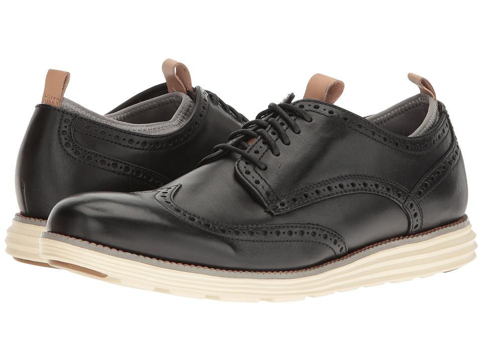 Cole Haan - Original Grand Wing Ox Novelty Sock (Black Leather/Ironstone Neoprene/Ivory) Men's Shoes