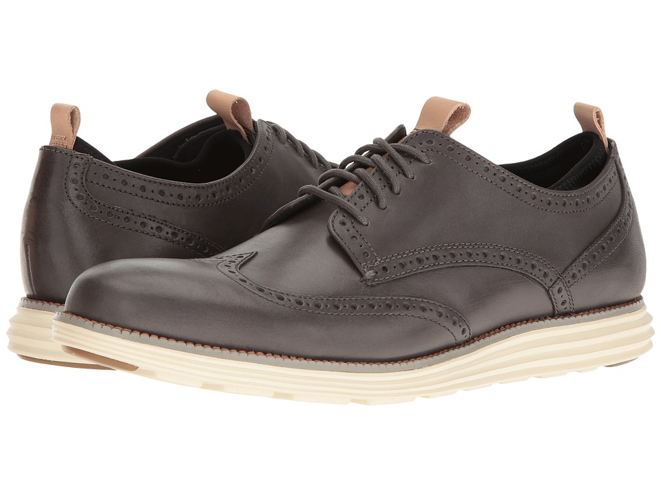 Cole Haan - Original Grand Wing Ox Novelty Sock (Castlerock Leather/Ironstone Neoprene/Ivory) Men's Shoes
