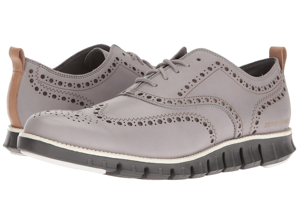 Cole Haan - ZeroGrand Wing Ox Leather (Silver Sconce Leather/Magnet) Men's Shoes