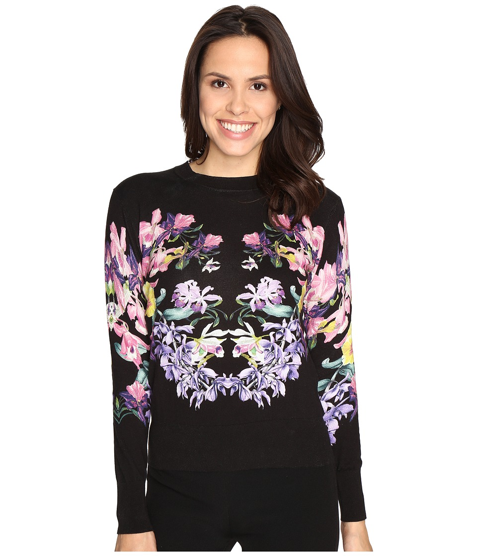 Ted Baker - Petii Lost Gardens Printed Jumper (Black) Women's Clothing