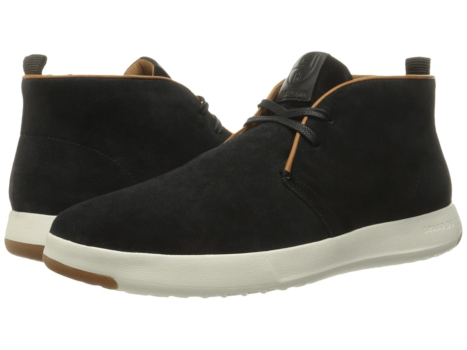 Cole Haan - GrandPro Chukka (Black Oiled Velour Suede) Men's Boots