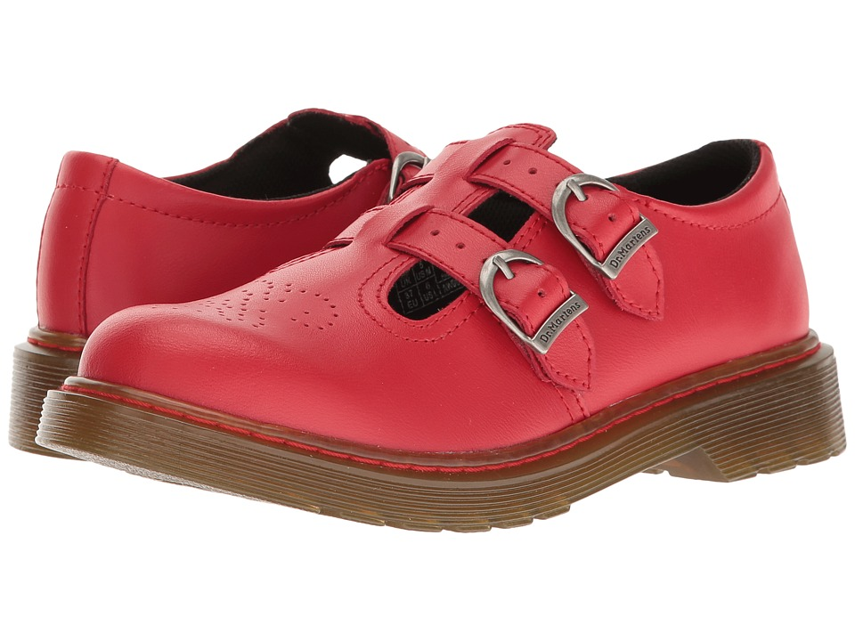 Dr. Martens Kid's Collection - 8065 Mary Jane (Big Kid) (Red T Lamper) Girls Shoes