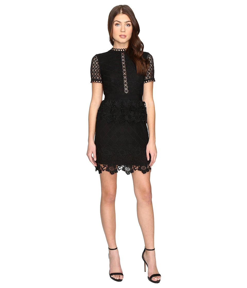 Ted Baker - Dixa Layered Lace Skater Dress (Black) Women's Dress
