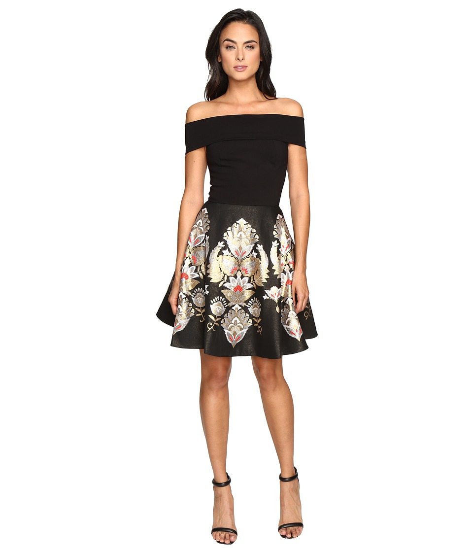 Ted Baker - Airlo Bardot Full Skirted Dress (Black) Women's Dress