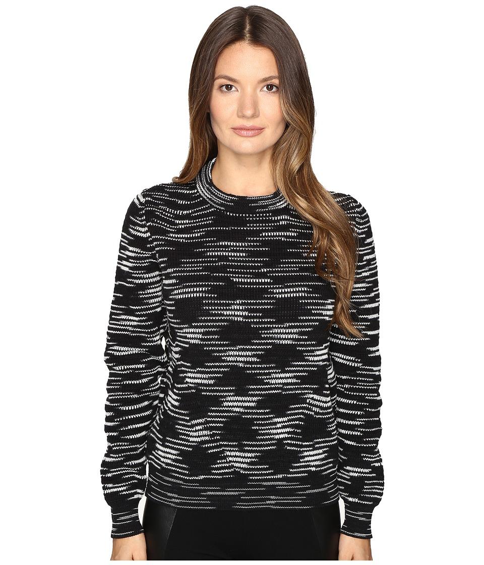 M Missoni - Chunky Spacedye Sweater (Black) Women's Sweater