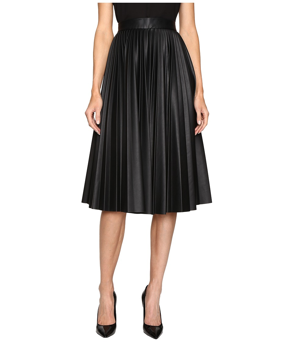 M Missoni - Faux Leather Pleated Skirt (Black) Women's Skirt