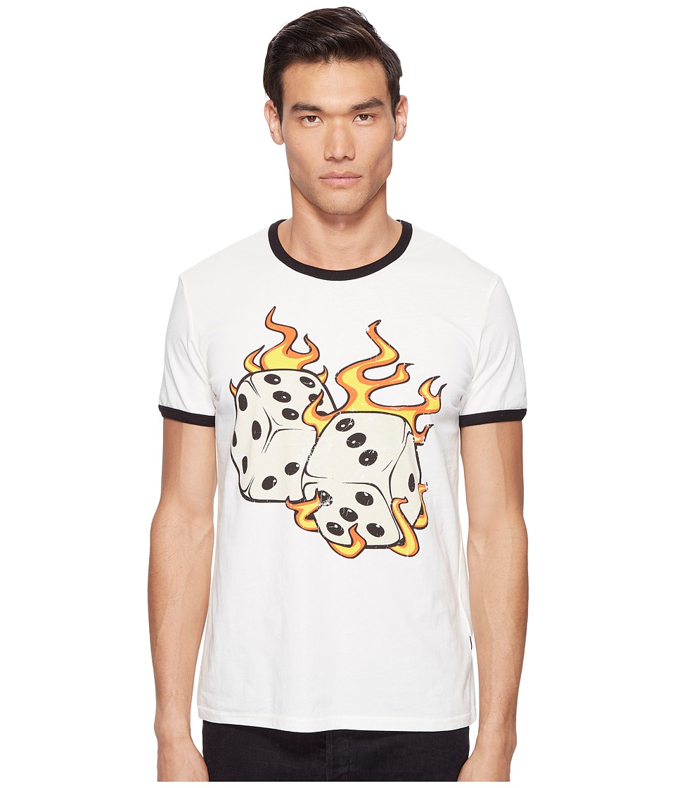 Just Cavalli - Flaming Dice T-Shirt (White Milk) Men's T Shirt