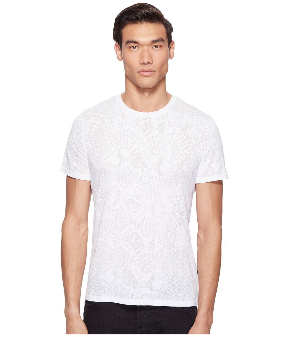 Just Cavalli - Snakeskin Print T-Shirt (White Milk) Men's T Shirt