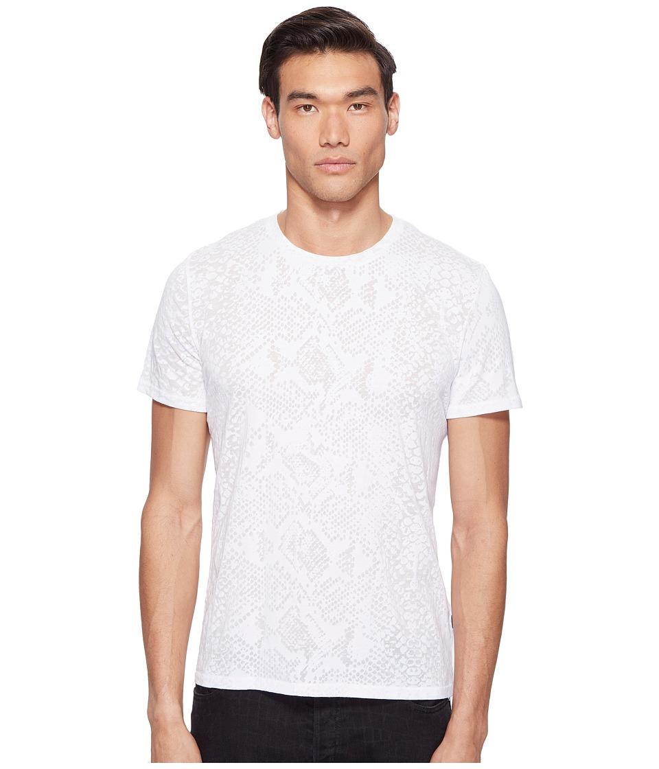 Just Cavalli Snakeskin Print T-Shirt (White Milk) Men