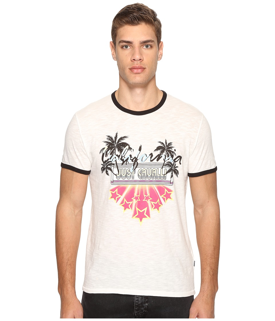Just Cavalli - Ringer T-Shirt (White Milk) Men's T Shirt
