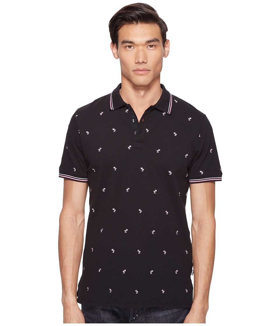 Just Cavalli - Palm Tree Polo (Black) Men's Clothing