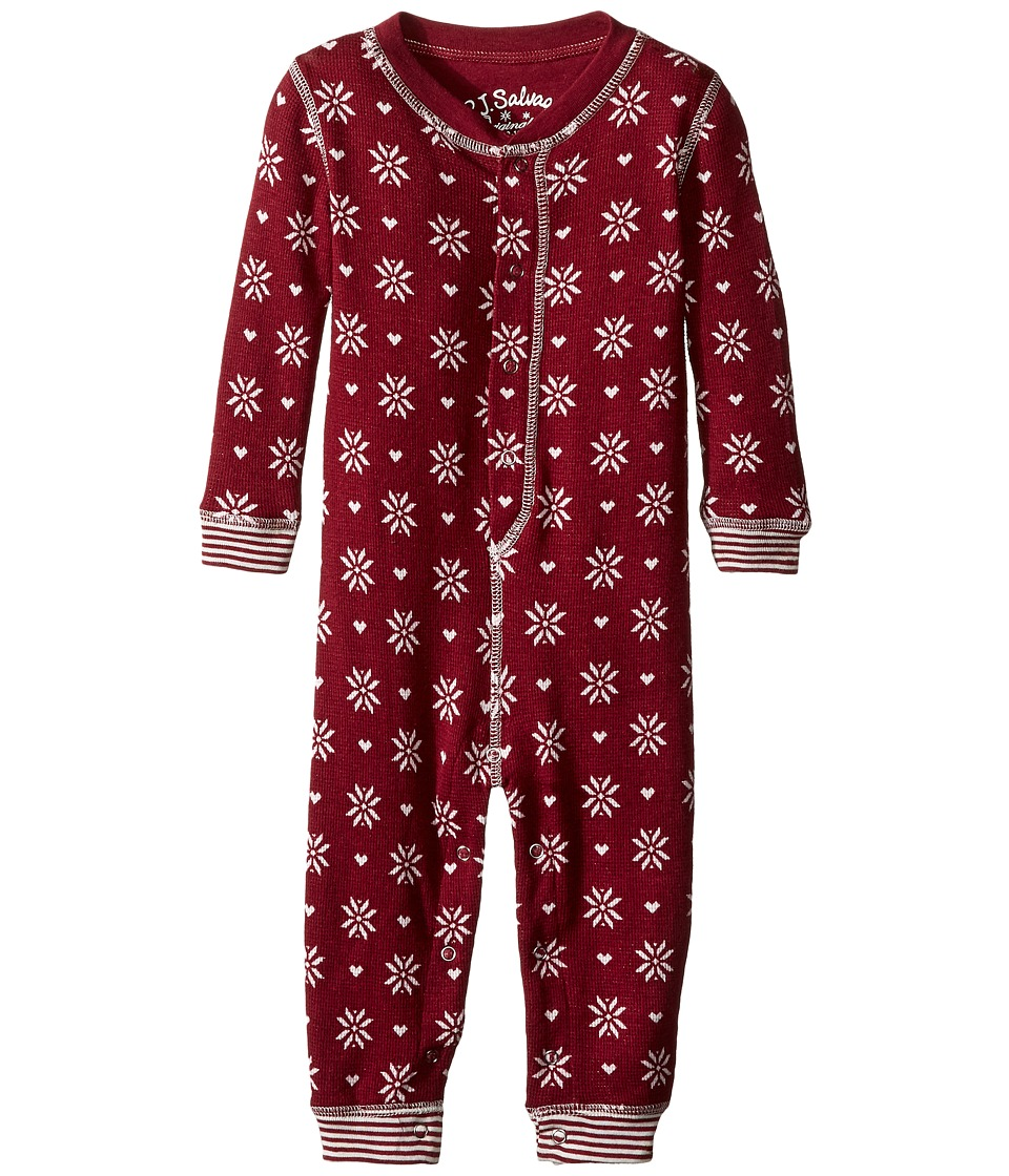 P.J. Salvage Kids - Snow Flake Romper (Infant) (Wine) Kid's Jumpsuit & Rompers One Piece