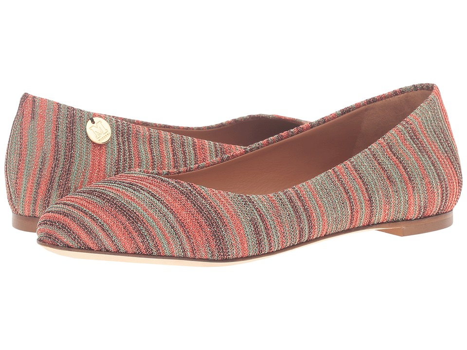 M Missoni - Spacedye Ballerina Flat (Red) Women's Flat Shoes