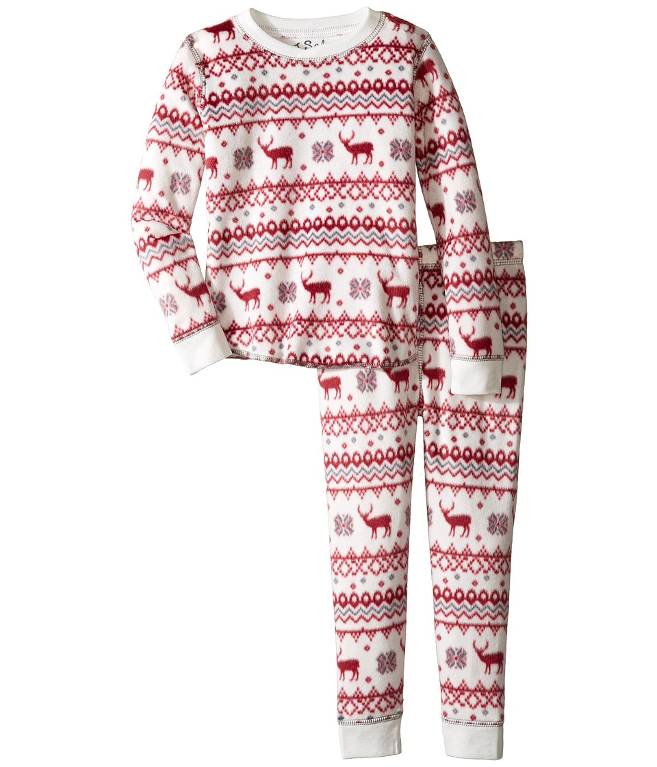 P.J. Salvage Kids - Fair Isle Polar Fleece Jammie Set (Toddler/Little Kids/Big Kids) (Natural) Kid's Pajama Sets