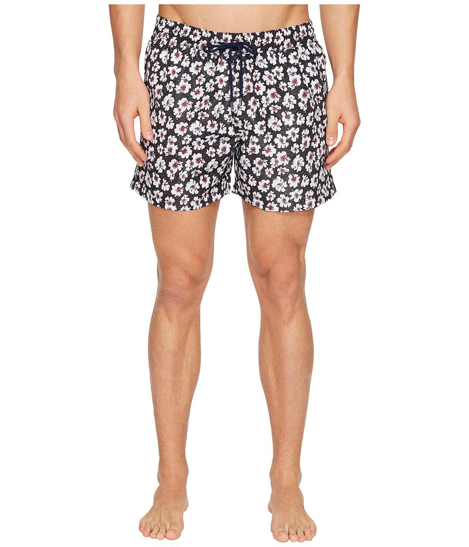 Paul Smith - Short Classic Etched Floral Swimsuit (Floral) Men's Swimwear