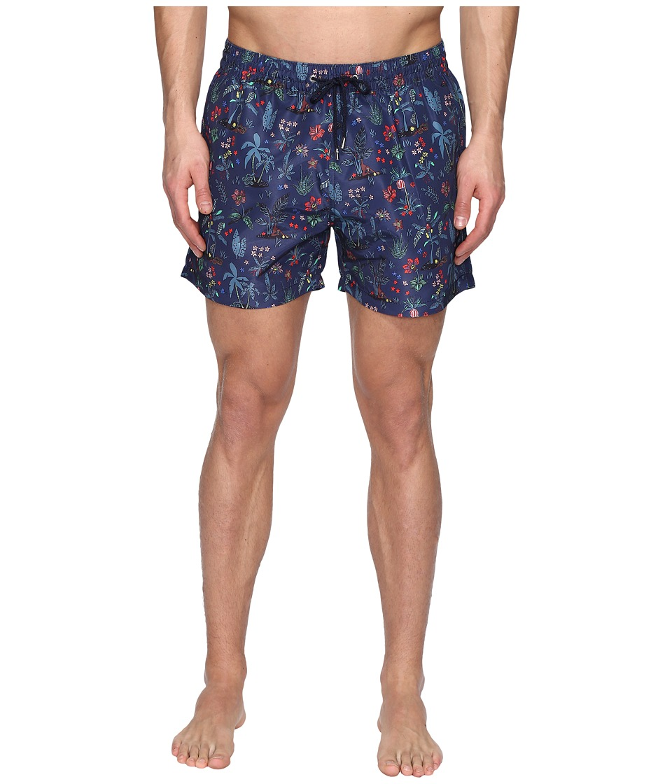 Paul Smith - Short Classic Botanical Swimsuit (Floral) Men's Swimwear