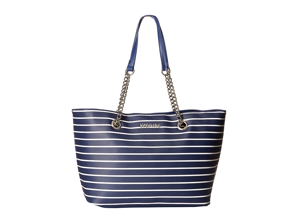 Kenneth Cole Reaction - Roundabout Tote (Navy/White) Tote Handbags