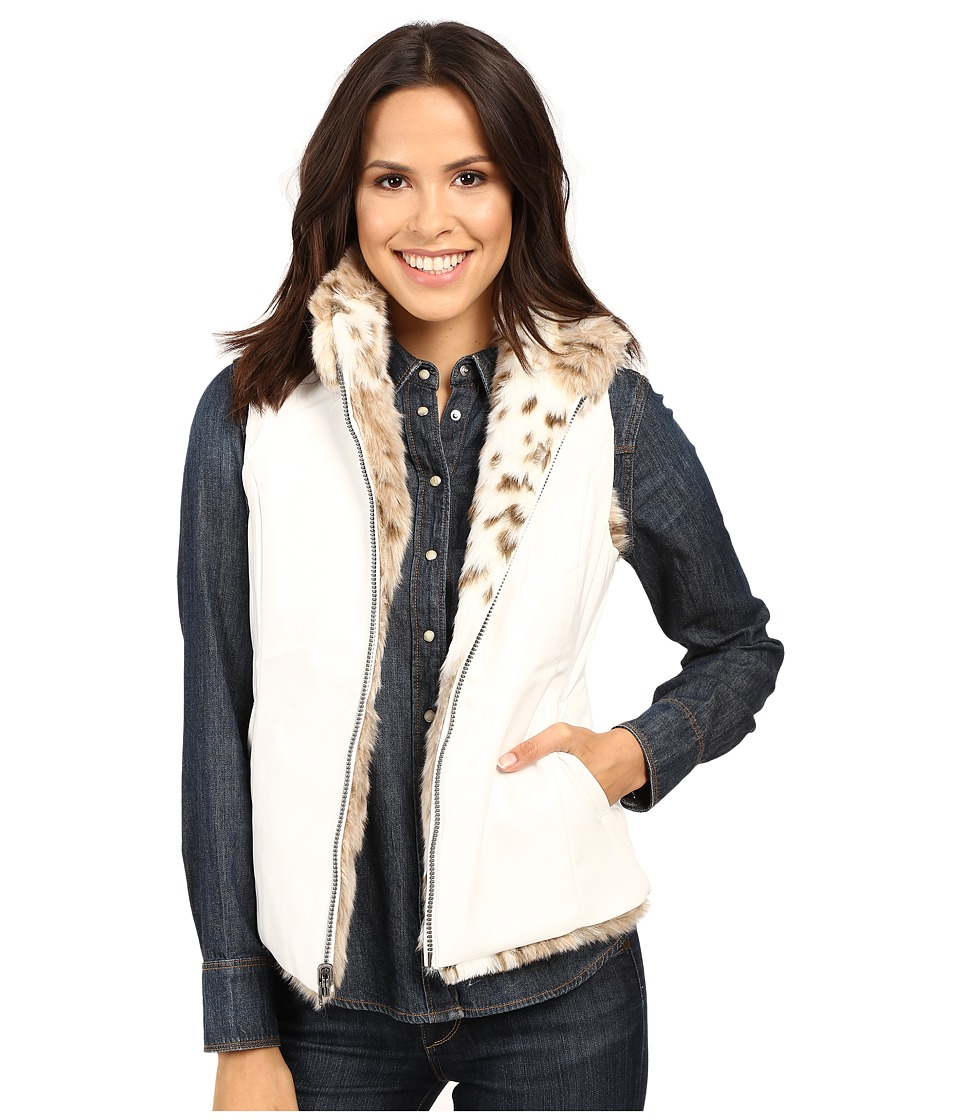 Scully - Siena Reversible Faux Leather/Fur Vest (Cream) Women's Vest