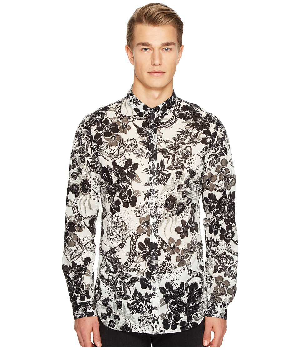 Just Cavalli - Souvenir Print Shirt (White) Men's Clothing