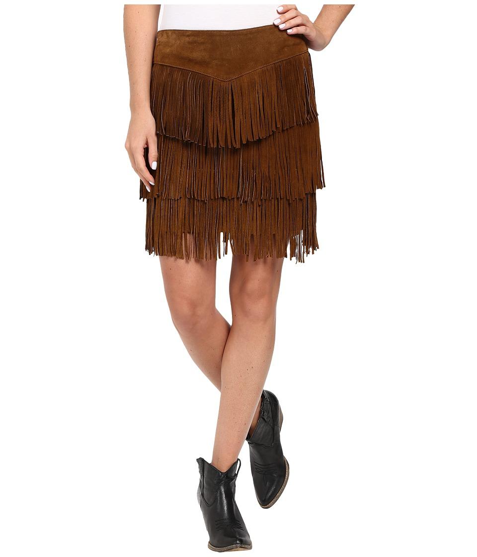 Scully - Zeena Fun Fringe Skirt (Cinnamin) Women's Skirt