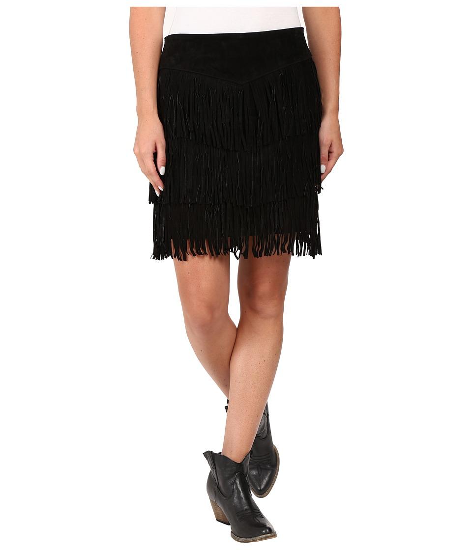 Scully - Zeena Fun Fringe Skirt (Black) Women's Skirt