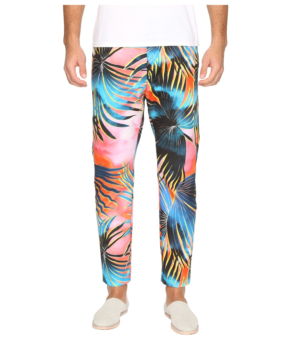 Just Cavalli - Tie-Dye Palm Print Pants (Multicolor) Men's Casual Pants
