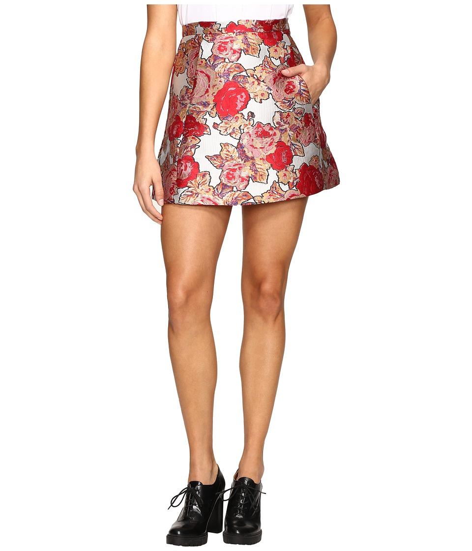 Rachel Antonoff - Brett Triangle Skirt (Jacquard Rose Garden) Women's Skirt