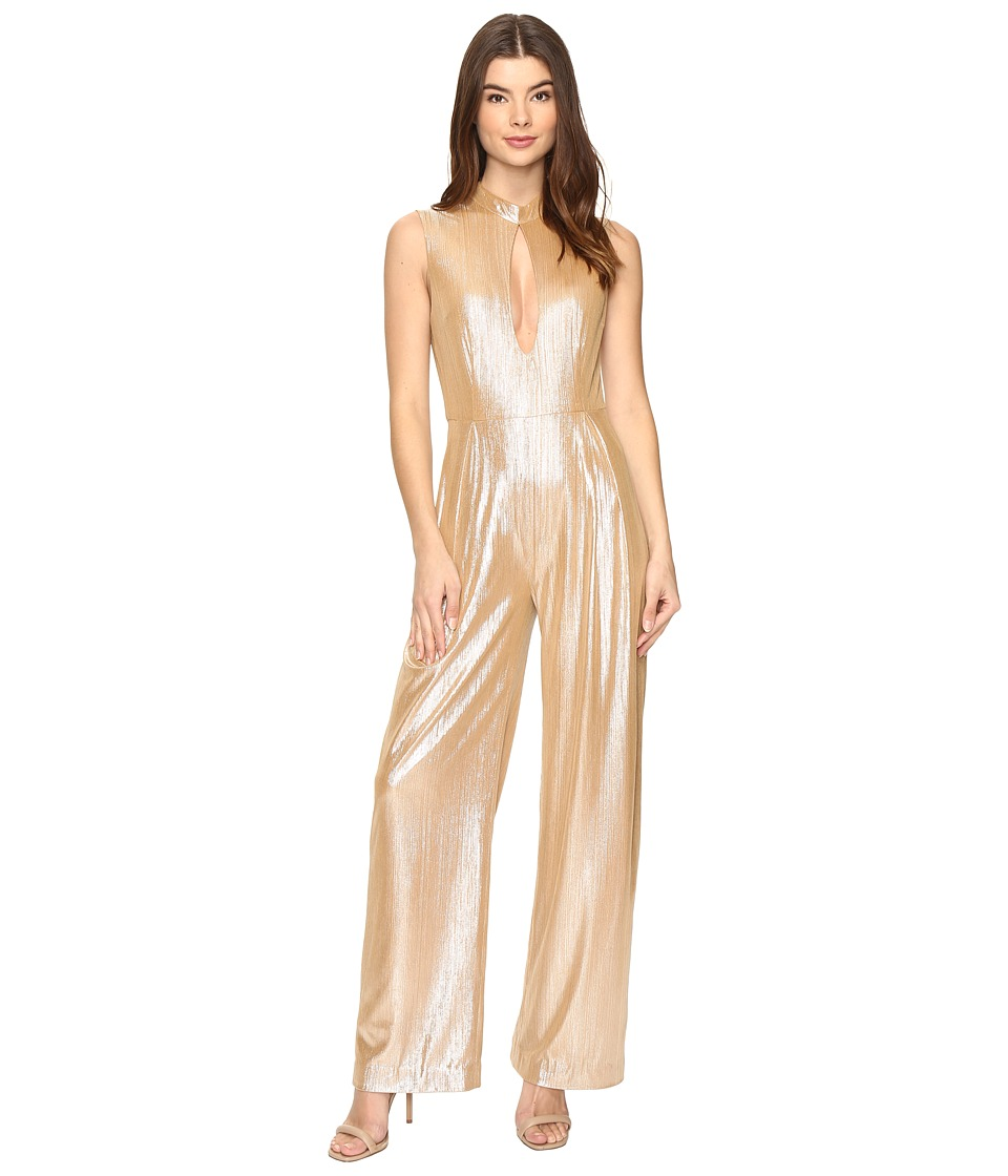 Rachel Antonoff - Stacy Plunge Jumpsuit (Champagne Shimmer) Women's Jumpsuit & Rompers One Piece