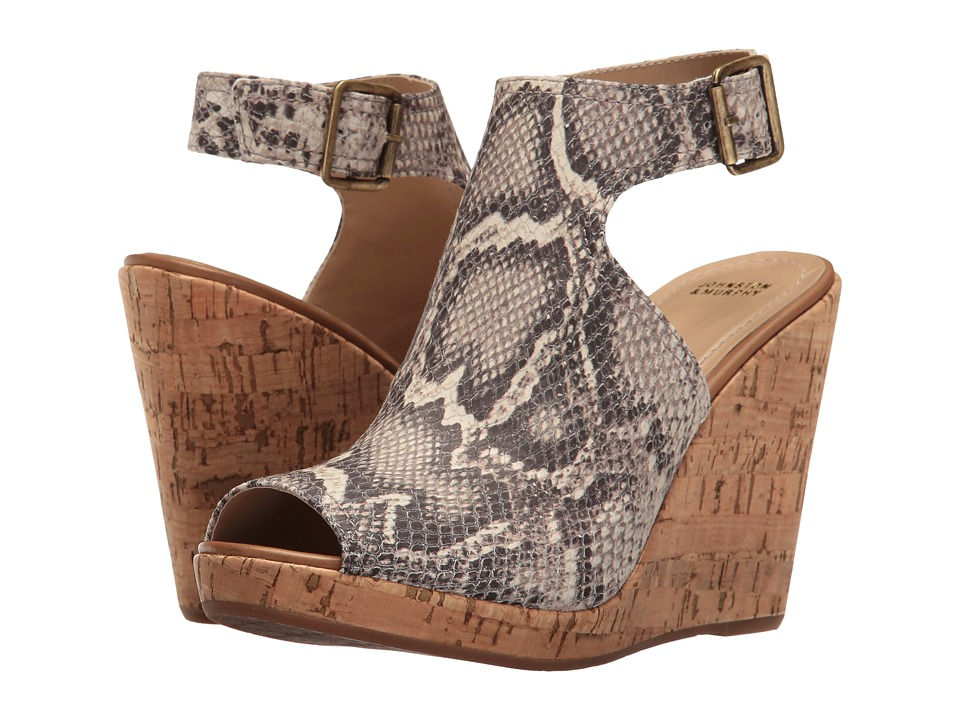 Johnston & Murphy - Mila (Natural Snake Print) Women's Wedge Shoes