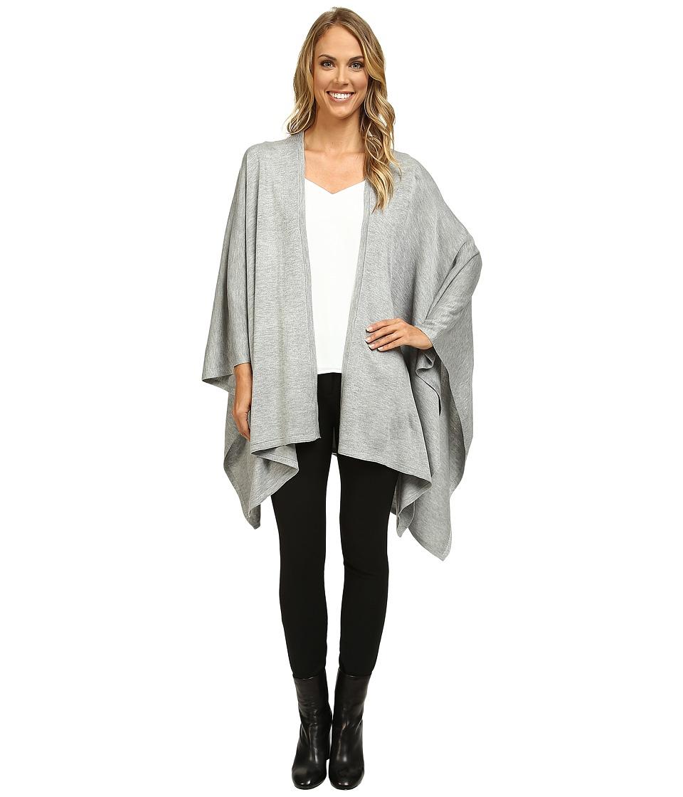 Calvin Klein - Studded Ruana (Heathered Mid Grey) Women's Clothing