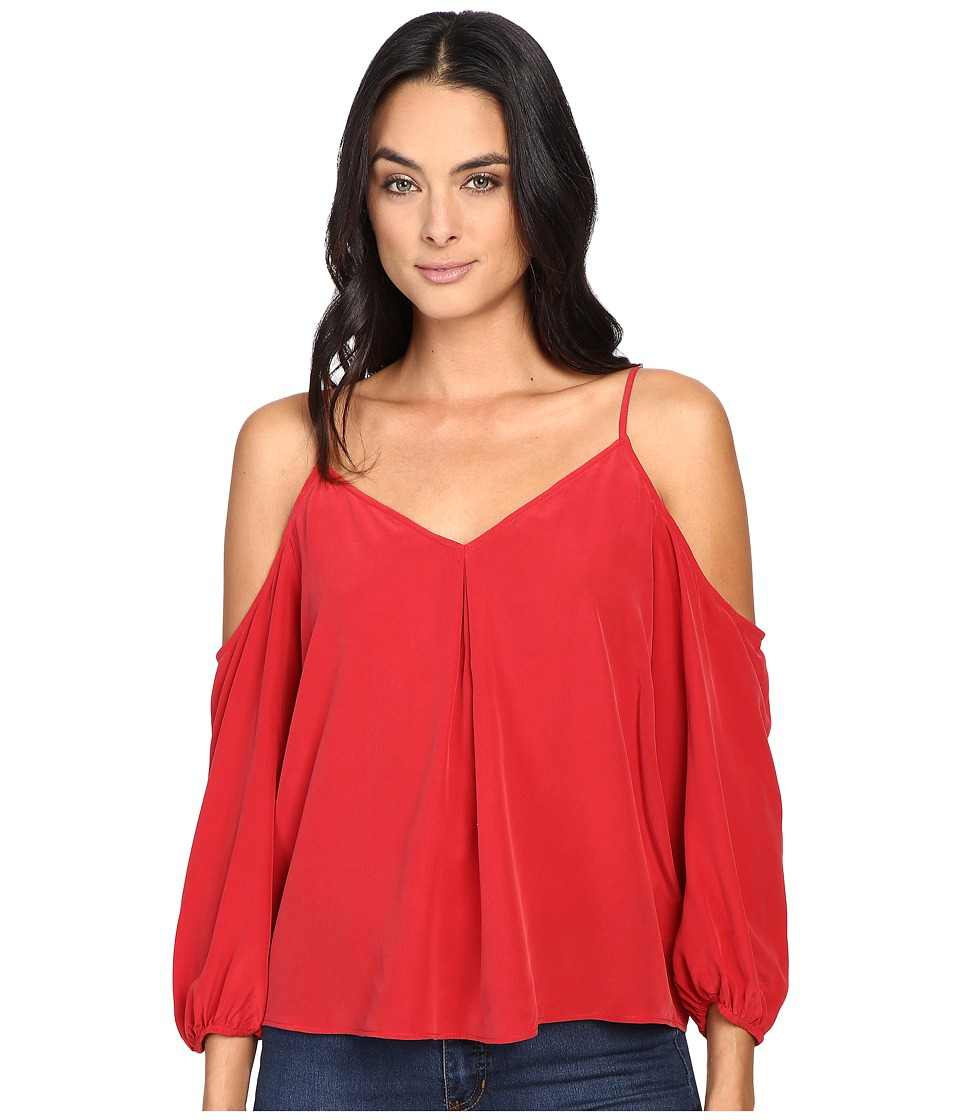Joie - Eclipse Cold Shoulder Top 355-T4724 (Ruby) Women's Clothing