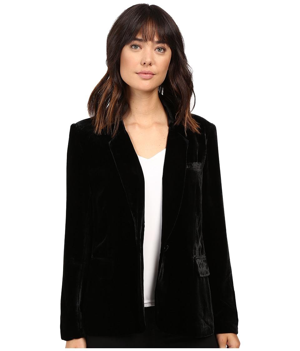 Joie - Mehira Velvet Blazer A368-J1018 (Caviar) Women's Jacket