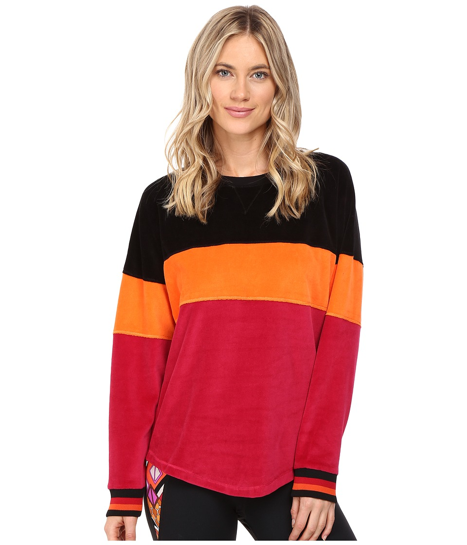 Trina Turk - Velour Sweatshirt (Wine) Women's Sweatshirt